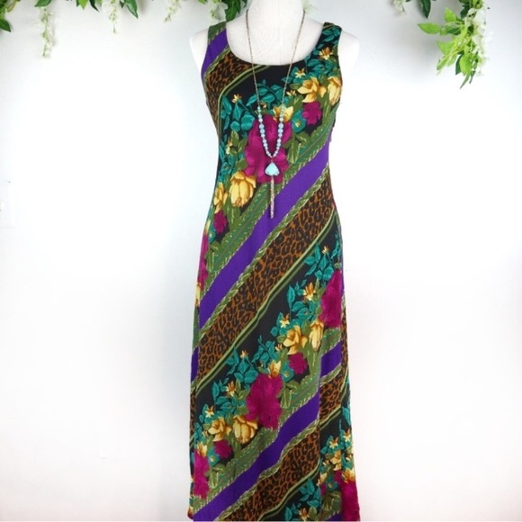 76607cd59676 Vintage Dresses   Jessica Howard Into The Wild Maxi Dress   Poshmark